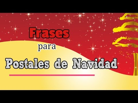 Frases para postales de navidad originales youtube - Targetas de navidad originales ...