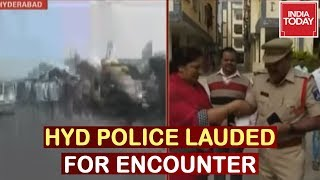 Hyd Accused Killed : Celebrations In Hyderabad, Police Involved In Encounter Upheld