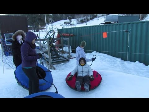 Snowtubing Gunstock Mountain New Hampshire January 2018