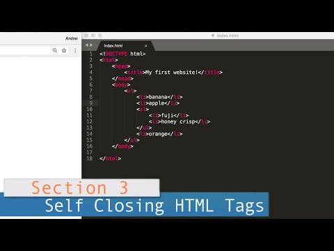 Part 3 (HTML) /// Lesson #5: Self Closing HTML Tags