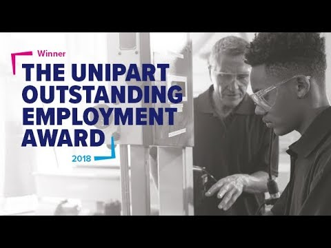 Barclays win the Unipart Outstanding Employment Award, large company