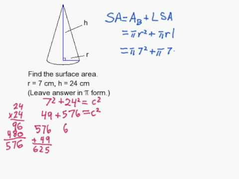 How To Find The Surface Area Of A Cone When Not Given The