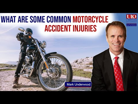 What are common motorcycle accident injuries?