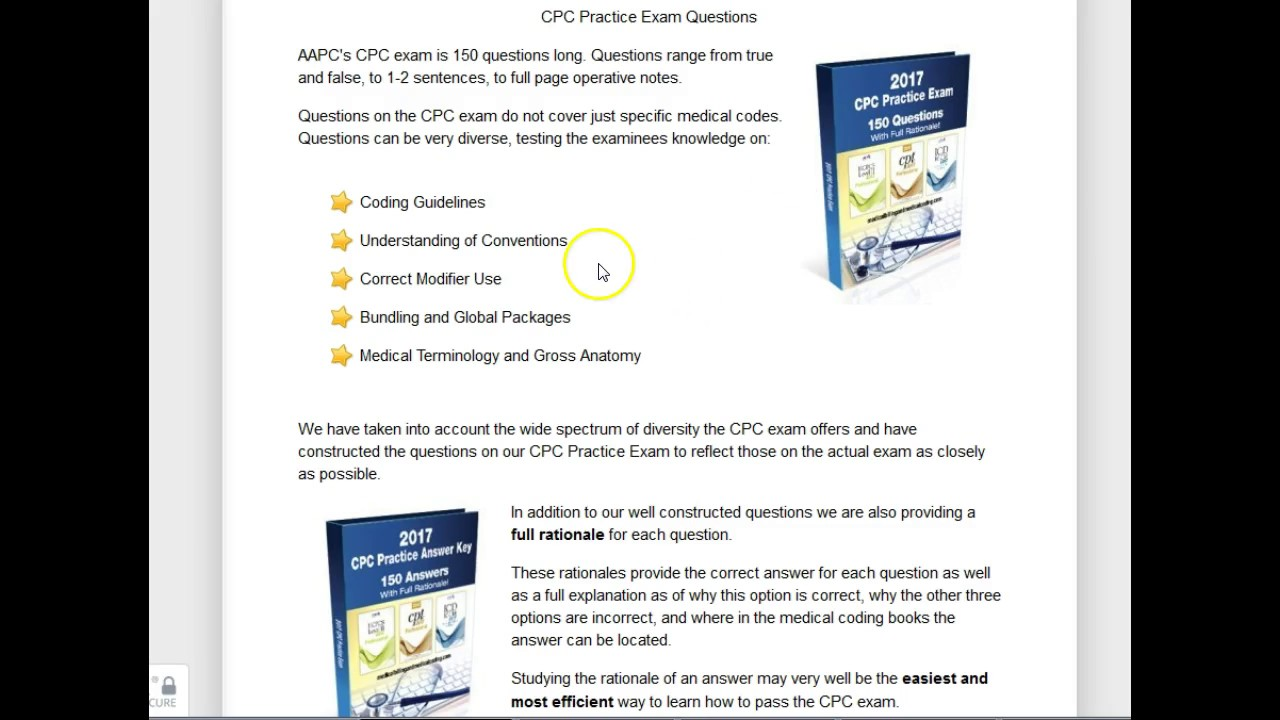 Best Cpc Practice Exam Digital Download Review Fastest Way To Pass