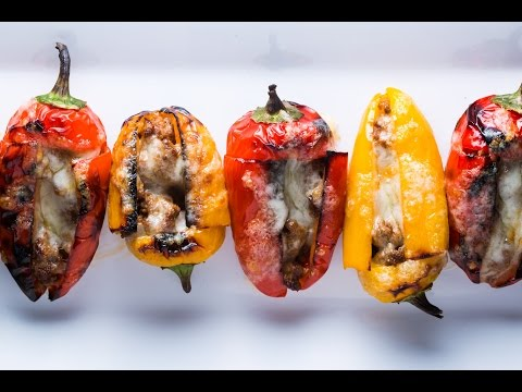 Stuffed Baby Peppers recipe by SAM THE COOKING GUY