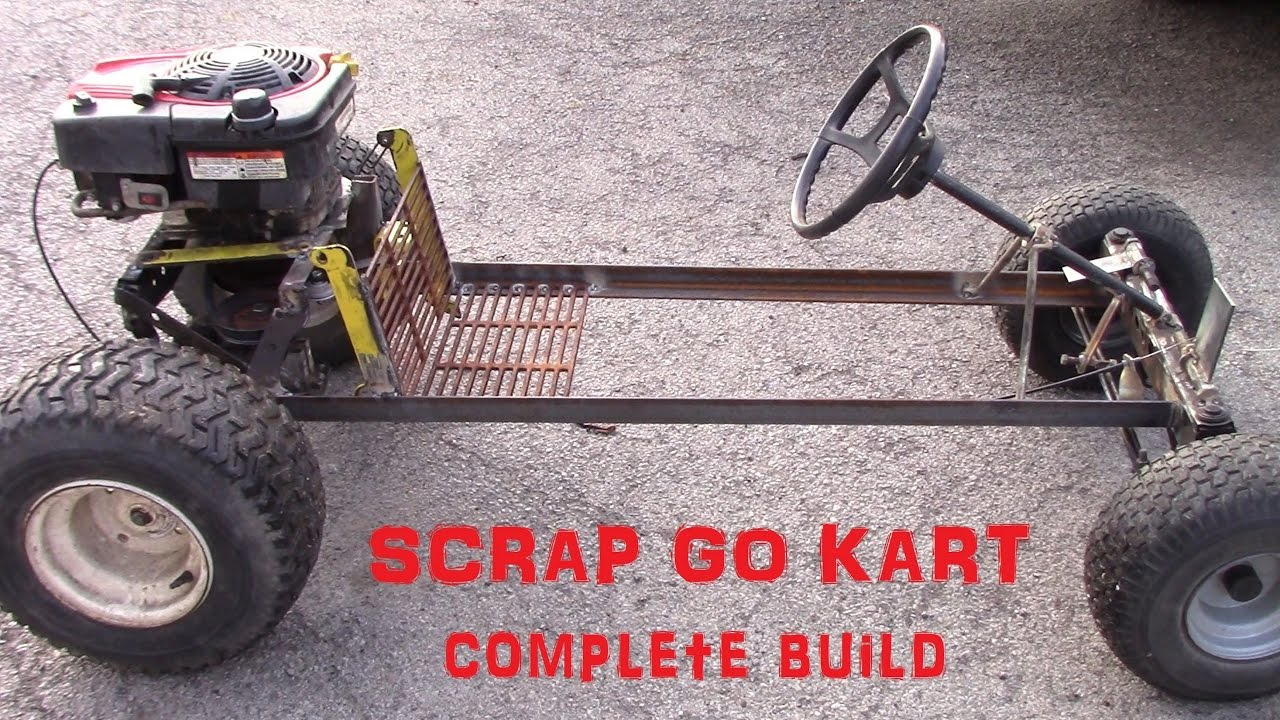 rat rod style go kart build from scrap youtube. Black Bedroom Furniture Sets. Home Design Ideas