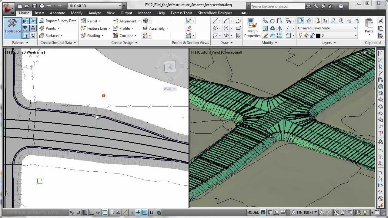 Autodesk autocad civil 3d 2014 overview youtube 3d site