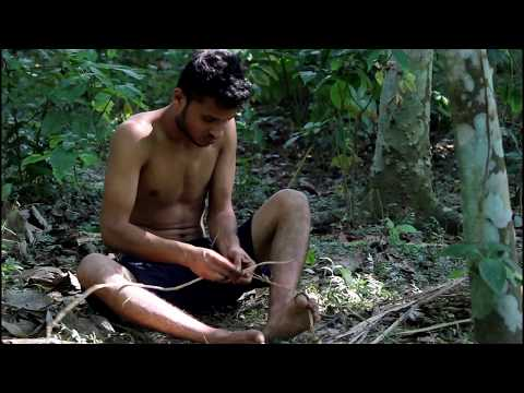 Primitive Technology: Making Rope( Making from  custard apple and banana tree)