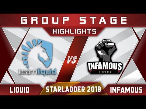 Liquid vs Infamous Starladder i-League 2018 Highlights Dota 2