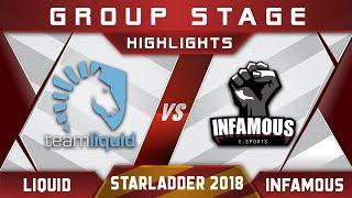 Liquid Vs Infamous Starladder I League 2018 Highlights Dota 2