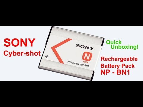 """""""SONY Cyber-shot Rechargeable Battery Pack NP - BN1""""   - QUICK UNBOXING AND INSTALLATION"""