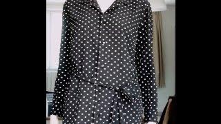 Montage d'une chemise-tunique. Visionnez tout le montage : col chemisier, poches plaquées, poignets et ceinture nouée avec passants. Ce modèle est pour ...
