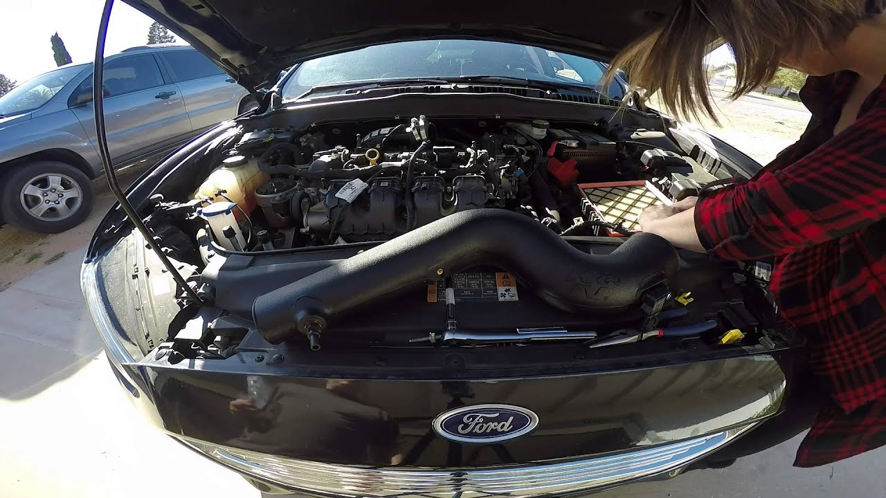 Ecoboost Fusion K Amp N Cold Air Intake Install Youtube