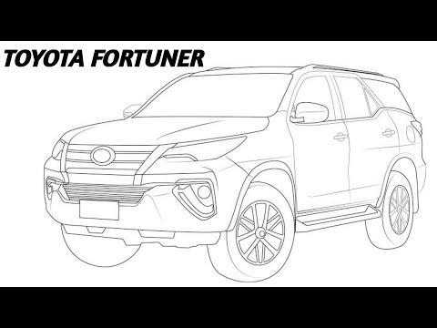 Cara Gambar Sketsa Toyota Fortuner 2 Youtube