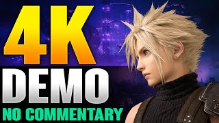 Final Fantasy 7 Remake Demo Walkthrough - No Commentary 4K Gameplay