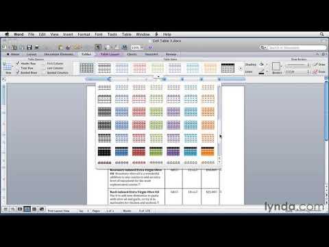 Microsoft Word: How to format tables | lynda tutorial