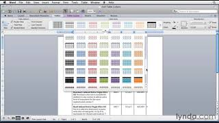 Microsoft Word: How to format tables | lynda.com tutorial