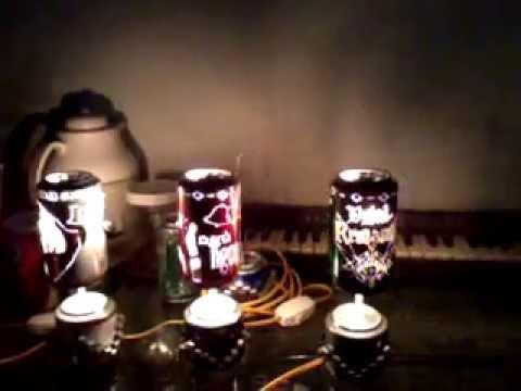 đèn ngủ làm bằng lon bia 3
