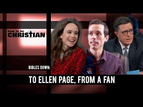 Bibles Down: To Ellen Page, From a Fan