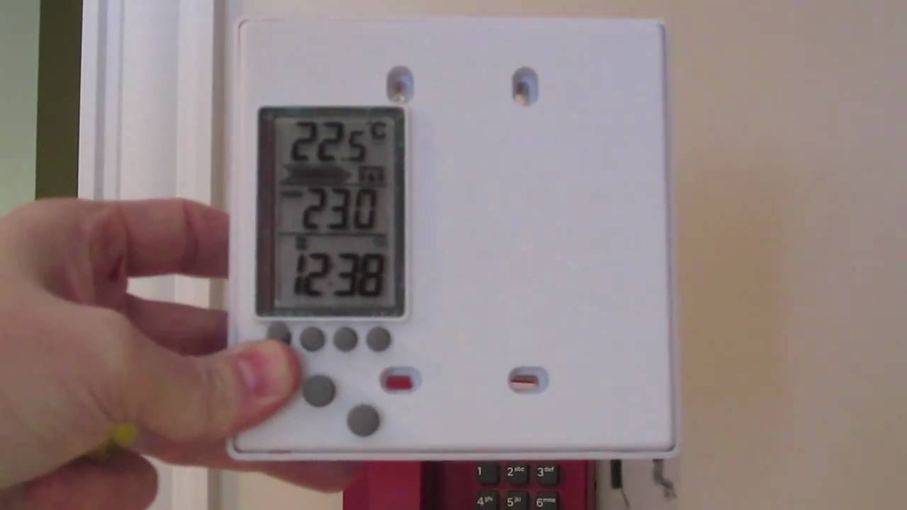 DIY Programmable thermostat install for electric heat - YouTube