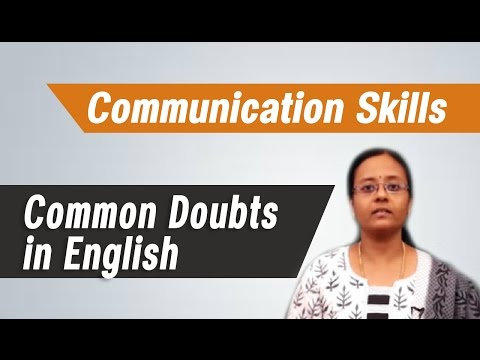 Common Doubts in English : Best tips on Communication skills