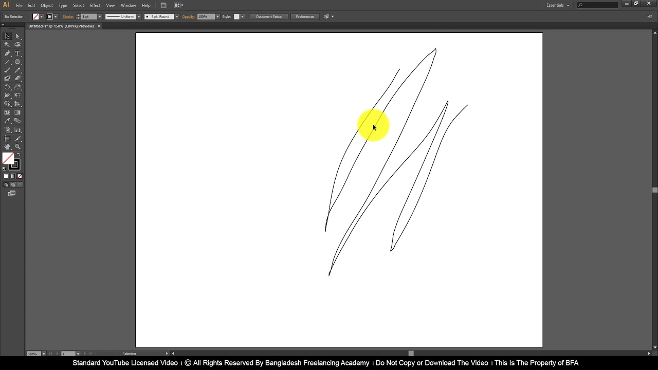 Ai Class 9 How to use Pencil, Smooth and Path Eraser Tool