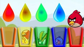 Angry Birds Drink Water 2 - RED HELP ALL BIRDS DRINK THEIR COLOR WATER!