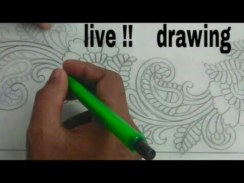 embroidery-design-sketch-on-paper