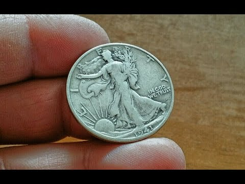 11 7 15 .. Rare? 1941 Walking Liberty Half Dollar, How much is this old US coin worth? @ Tokyo Japan