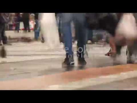0037 - time lapse - Feet of people walking in Milan