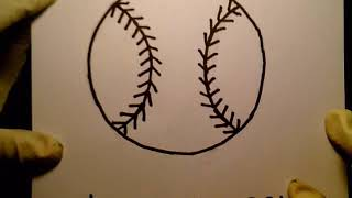 How To Draw A Baseball como dibujar una pelota de beisbol MLB College Little League bat player field