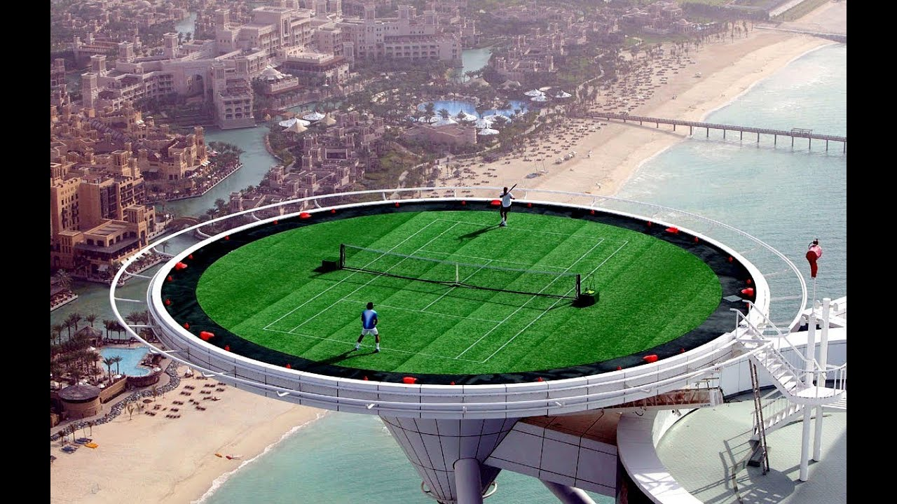 Image result for playing tennis in rooftop in dubai