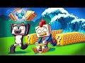 Minecraft | TSUNAMI LUCKY BLOCK RACE CHALLENGE - Tsunami Destroys City! (Run or Die)