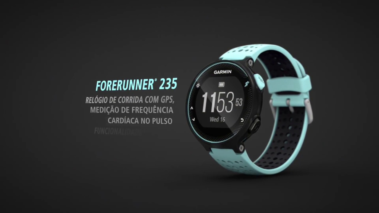 8cbf548c422 Relógio com Monitor Cardíaco Garmin Forerunner 235 - YouTube