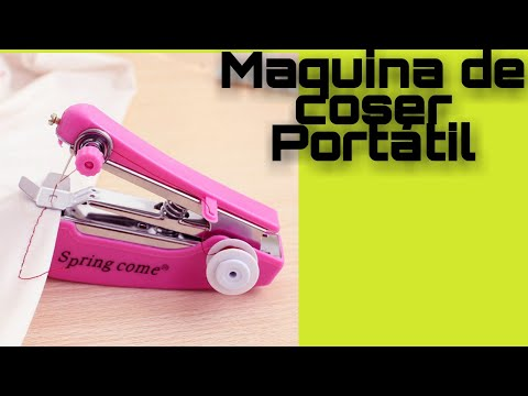 COMO USAR UNA Mini maquina de coser manual. - YouTube