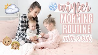 MORNING ROUTINE WITH 2 KIDS // INFANT AND TODDLER // Simply Allie