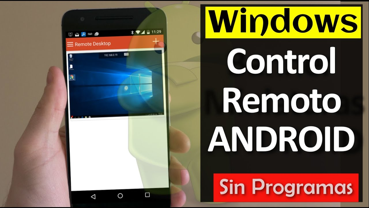 21ad001ec35a3 Configurar Escritorio Remoto de WINDOWS 10 con ANDROID  Sin Programas