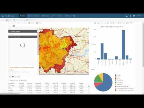 Tableau and ESRI ArcGIS - London CO2 Emissions