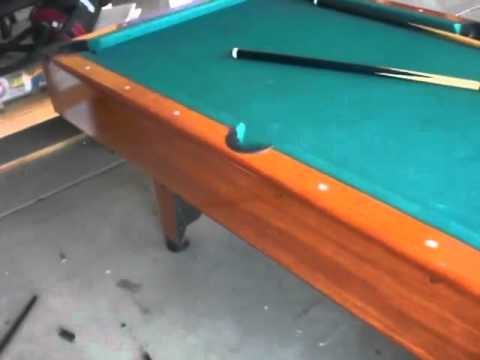 Mizerak space saver pool table for sale youtube - Space needed for pool table ...