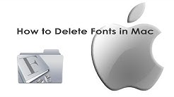 How to Delete Fonts in Mac Operating System