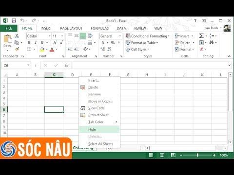 Cách ẩn hiện một Sheet trong Excel