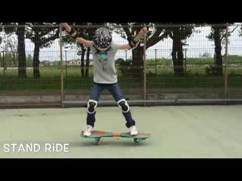 10 Year Old Girl riding RipStik-Stand Ride-Tail Ride-Popawillie-Jump