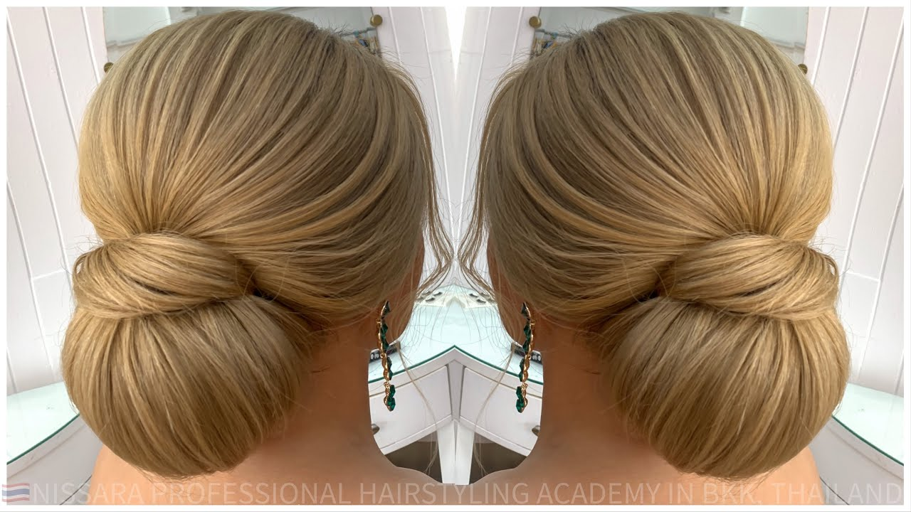 Cute Hairstyle Idea Chignon Loose Nissara Hairstylistthailand Youtube