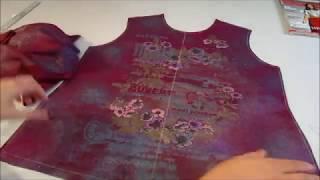Шью футболку из журнала Бурда Моден 3 часть Крой футболки из купонного рисунка