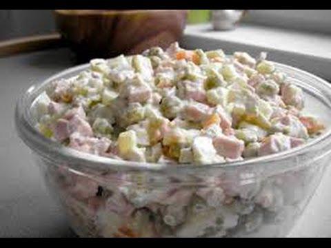 оливье мясной салат рецепт с фото