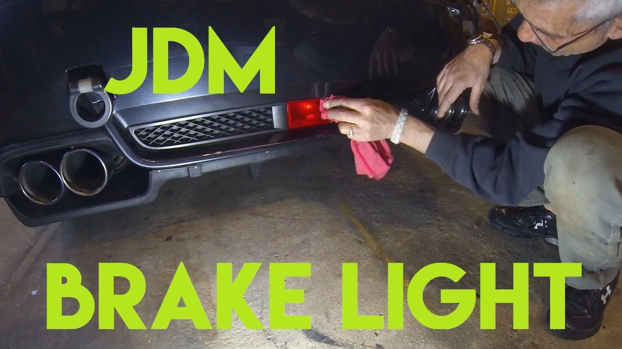 medium resolution of wrx jdm brake light install
