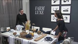 Creating a sophisticated + rustic 'farm luxe' dining room