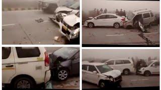 Car's accident in Pakistan highway gujrat in Pakistan 2019