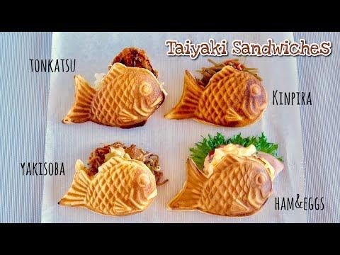 How To Make Taiyaki Sandwiches (Recipe) | OCHIKERON | Create Eat Happy :)