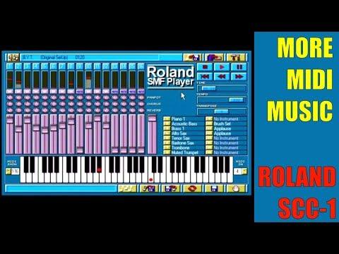Roland SMF Player for DOS on Roland Sound Canvas (Roland SCC-1) @720p50